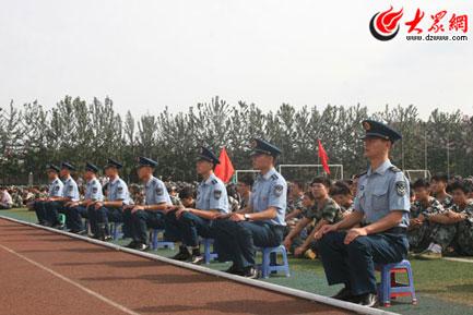 军训动员大会现场