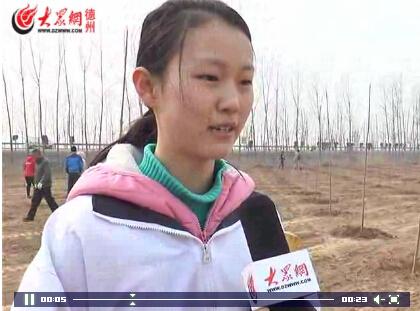 """""""植树对学生成长非常有帮助"""""""