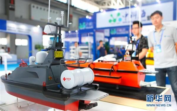当日,2017中国(青岛)国际海洋科技展览会在山东青岛国际博览中心开幕.